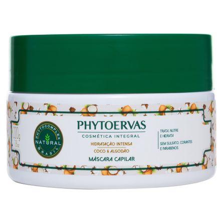 mascara-para-cabelos-hidratacao-intensa-coco-e-algodao-phytoervas-220g